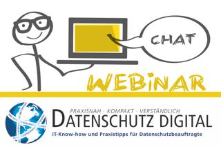 Beitragsbild Datenschutz digital Webinar
