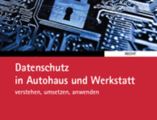 Unser Buch: Datenschutz in Autohaus und Werkstatt (Springer Automotive Media)