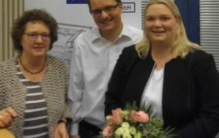 Bild mit Ruth Graf und den Referenten Karin und Sebastian Tausch
